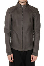 RICK OWENS new Men DARKDUST Leather INTARSIA JAcket Coat Made Italy