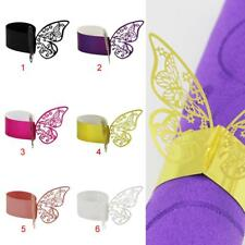 Butterfly Paper Wedding Dinner Party Napkin Ring Table Holder Decor Pack of 50