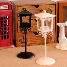 Black/White Vintage Street Lamp Candle Holder Tea light Stand Centerpiece Decor