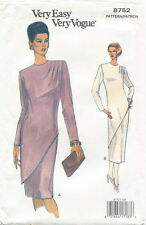 Vogue 8752 Misses Easy Dress Sewing Pattern ~ Size 12 14 16