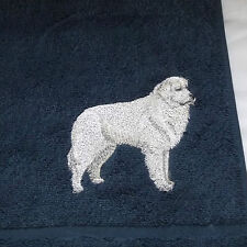 Great Pyrenees Dog Embroidered Towels, Dog Gift, personalise, Embroidery