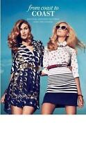 NEW WOMANS GUESS BY MARCIANO ANCHOR WHITE AND BLUE LONG SLEEVE BLOUSE TOP S