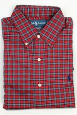 Ralph Lauren Red Teal Blue Custom Plaid Dress Shirt Navy Pony NWT