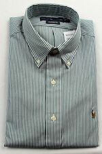 Ralph Lauren Green White Stripe Classic Dress Shirt Multi Color Pony NWT