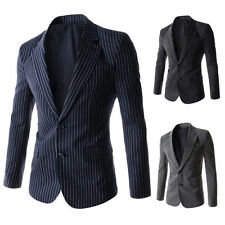 Stylish Mens Casual Slim Fit Single Breasted Suit Blazer Coat Jackets Outwear r