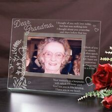 Personalized Glass Memorial Picture Frame I Think Of You Engraved Memorial Frame