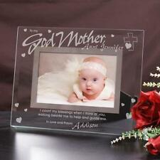 Personalized Godparent Glass Picture Frame Godmother Godfather Glass Photo Frame