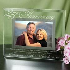 Personalized 25th Wedding Anniversary Picture Frame Engraved Anniversary Gift