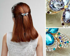 Women Crystal Butterfly Barrette Hair Clip Hairpin Hairwear Hair Accessory
