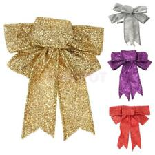 13cm Sequin Cloth Large Christmas Tree Bow Decoration Christmas Tree Ornaments