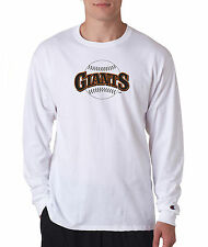 San Francisco Giants Throwback Champion LONG SLEEVE T-Shirt Tagless T Shirt