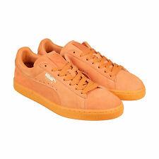 Puma Suede Classic+ ICED Mens Orange Suede Lace Up Sneakers Shoes