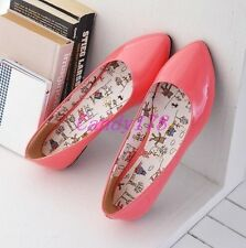 New Womens Ballet Flats Mary Jane Sweet Candy Colors Slip On Casual Shoes Size