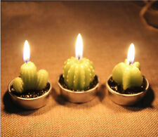 1/3/6PCS Cactus Candles  Birthday Wedding Home Party Decoration Scented Craft