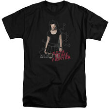 NCIS Goth Crime Fighter Mens Big and Tall Shirt