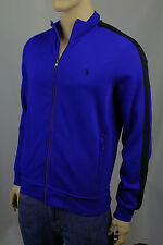 Polo Ralph Lauren Royal Blue Full Zip Sweatshirt Track Jacket Black Pony NWT