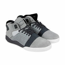Supra Skytop III Mens Grey Suede & Leather Lace Up Sneakers Shoes