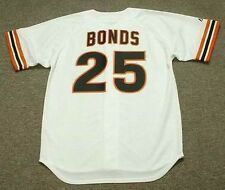 BARRY BONDS San Francisco Giants 1993 Majestic Cooperstown Home Baseball Jersey