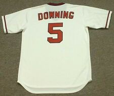 BRIAN DOWNING California Angels 1982 Majestic Cooperstown Home Baseball Jersey