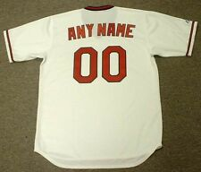 """CALIFORNIA ANGELS 1980's Majestic Cooperstown Home """"Customized"""" Baseball Jersey"""
