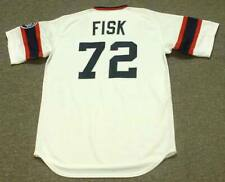 CARLTON FISK Chicago White Sox 1985 Majestic Cooperstown Home Baseball Jersey