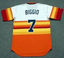 CRAIG BIGGIO Houston Astros 1980's Majestic Cooperstown Home Baseball Jersey