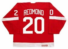 MICKEY REDMOND Detroit Red Wings CCM Throwback Home NHL Hockey Jersey