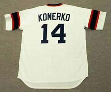PAUL KONERKO Chicago White Sox 1980's Majestic Cooperstown Home Baseball Jersey