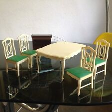 VINTAGE SINDY DOLL TABLE 4 CHAIRS & SERVING TROLLEY FURNITURE  60s 70s BARBIE