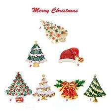 New Christmas Tree Rhinestone Crystal Brooch Pin Jewelry Wedding Party Gift G6Z7