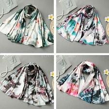 Chinese Style Long Scarves Womens Shawl Silk Pashmina Scarf Wrap Fashion K2K3