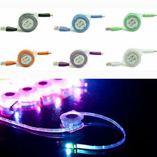 Retractable LED Light Micro USB Data & Sync Charger Cable For Android Samsung LG