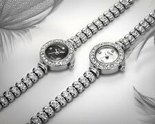 Luxury Girl Ladies Bracelet Steel Band Quartz Crystal diamond Dial Wrist Watch