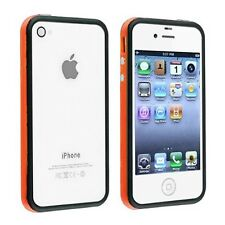 Fun Colorful Bumper Case Frame Cover for Apple iPhone 4S 4 4th Gen Orange/Black