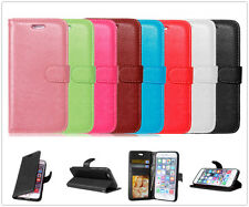 Photo Frame Card Holder Leather Flip Wallet Case Cover Stand For iPhone LG Pouch