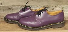 MENS PURPLE LEATHER DR. MARTENS AIR WAIR MADE IN ENGLAND OXFORD SHOES SZ. 10