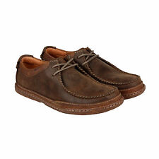 Clarks Trapell Pace Mens Brown Leather Casual Dress Lace Up Oxfords Shoes