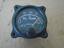 1 EA USED WESTON MODEL 606 OIL TEMPERATURE INDICATOR USED ON VARIOUS AIRCRAFT.