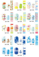 14X Self-adhesive Nail Polish Foils Decals Stickers Nail Art Wrap Patch Manicure