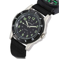 Mens Ladies Japan Quartz Movement Wrist Watch Military Army Watch Canvas Strap