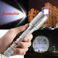 Zoomable 3000 Lumens CREE XML T6 LED Flashlight Focus Torch Aluminum Lamp 18650