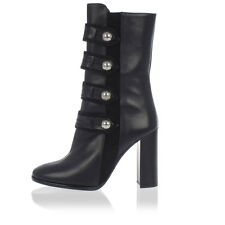 ISABEL MARANT New Woman Black Studded Leather Suede Heel Boots Shoes Made Italy
