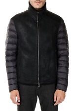 DROMe New Man Black Padded Leather Shearling Jacket Coat Lamb NWT