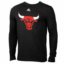 adidas Chicago Bulls Youth Black Primary Logo Long Sleeve T-Shirt