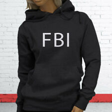FBI Undercover Detective Police Officer Cops Court Law Womens Charcoal Hoodie