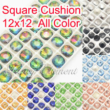 Glass Square Cushion 4470 12mm Mix Color Crystal Sew On Rhinestones Jewelry Bead