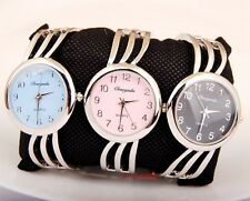 Elegant Woman Girl Lady Quartz casual Steel Round Bangle Watch Gift USDW38