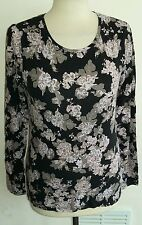 Floral stretch top size s