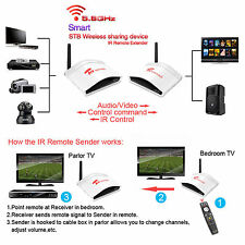 5.8G Wireless Audio Video Switch TV Transmitter Receiver Sender With IR Repeater