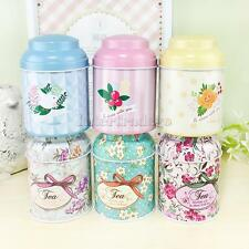 Universal Flower Metal Sugar Coffee Tea Tin Jar Container Candy Sealed Cans Box